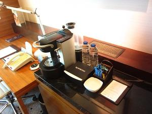 ラディソンブルホテル ビジネスルーム コーヒーメーカー
