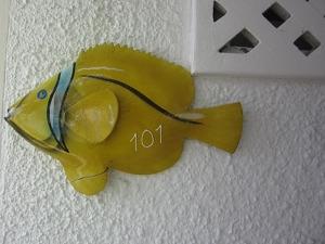 パシフィック セブ リゾート 部屋番号を教えてくれる魚がとてもかわいいです。