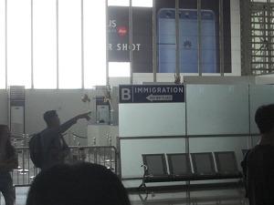 マニラ空港 国内線から国際線への移動