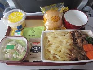 フィリピン航空 帰国便機内食
