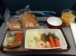 セブ島直行便 往路機内食