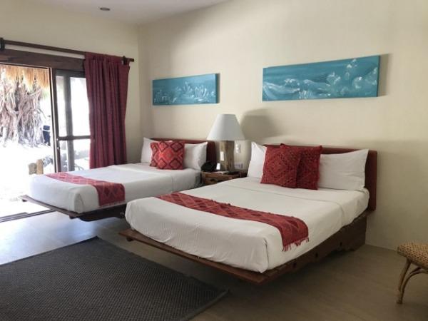 ブルーウォーター マリバゴ ビーチ リゾート プレミアデラックスルーム ベッドルーム