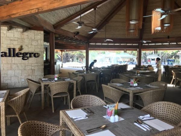 ブルーウォーター マリバゴ ビーチ リゾート レストラン「allegro」