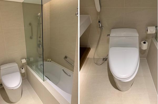 デュシタニ マニラ デュシットルーム バスルーム・トイレ