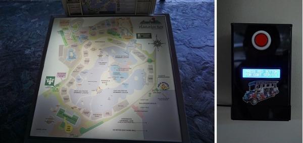 プランテーション ベイ リゾート&スパ リゾートマップとカート呼出ボタン