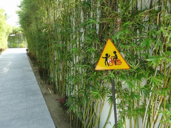 グラン ヴィリオ オーシャン リゾート ダナン 自転車禁止の標識