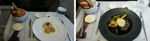 ビジネスクラス 機内食 洋食
