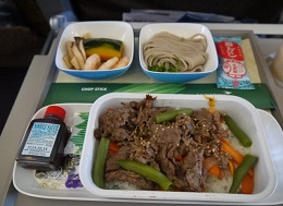 ガルーダインドネシア航空 機内食(日本食)