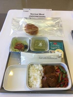 ガルーダインドネシア航空 エコノミークラス機内食(インドネシア料理)