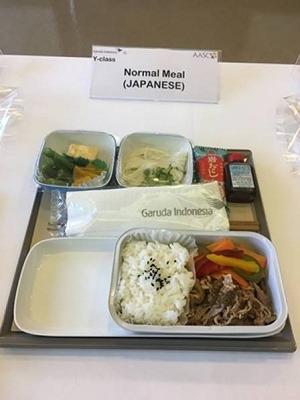 ガルーダインドネシア航空 エコノミークラス機内食(和食)