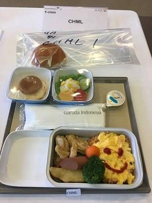 ガルーダインドネシア航空 エコノミークラス機内食(キッズメニュー)