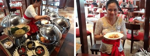 ザ・セントレジス バリ リゾート 朝食 ナシクニンのコーナー