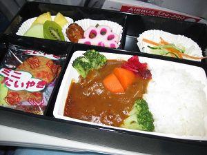 フィリピン航空 機内食 *和食のようです*  なじみのある味でおいしくいただきました。