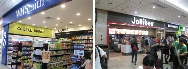 セブ・マクタン空港 コンビニや飲食店