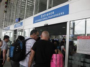 マニラ空港 乗継 *入り口 保安検査*