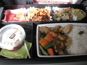 フィリピン航空 国際線 帰りの機内食