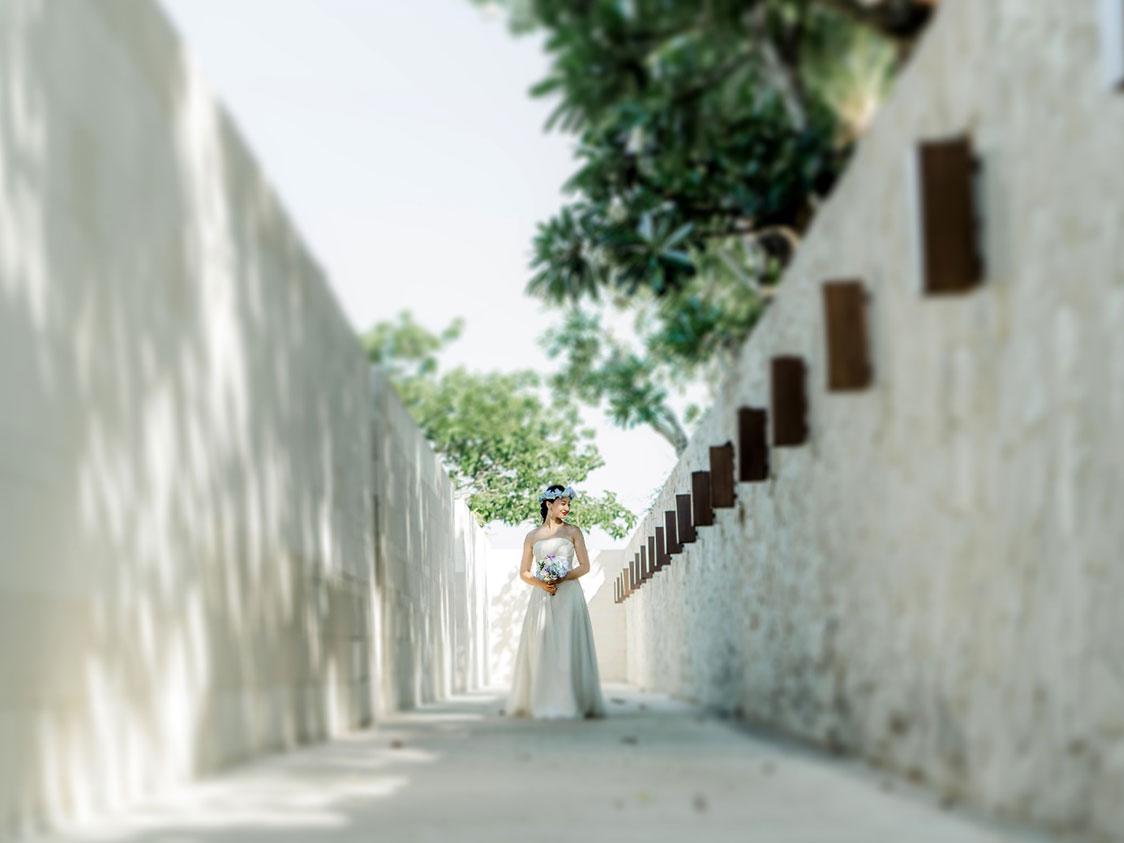 ザ・バレ&ビーチフォト 真っ白な通りでの撮影画像