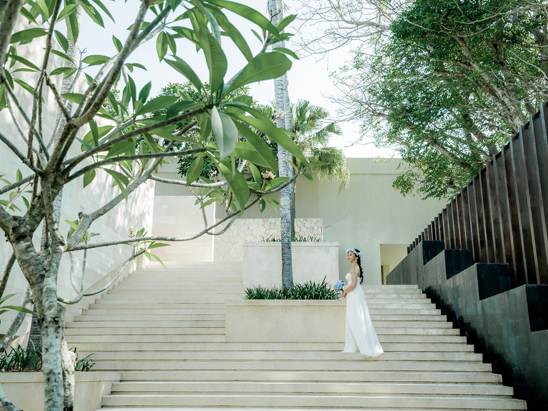 ザ・バレ&ビーチフォト 階段での撮影画像